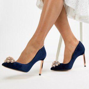 Ted Baker Brydien Brooch Embellished Pointed Heels